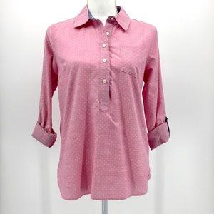 TOMMY HILFIGER Pink polka dot pop over shirt Small